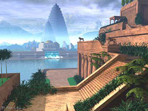 The Hanging Gardens Of Babylon Was Located In The East Bank Of Euphrates,  South Of Baghdad In Iraq. King Hammurabi Was The Most Famous King Of The ...
